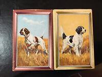 VINTAGE IMPERIAL PLAYING CARDS Springer Spaniel Dog IN ORIGINAL PACKAGE