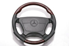 For Mercedes Benz W210 E Walnut w/Black Punched Leather Steering Wheel Sports