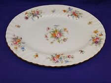 """BEAUTIFUL MINTON CHINA 12 1/2"""" MARLOW SERVING PLATTER S-309 MULTI-FLORAL ENGLAND"""