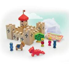 House of Marbles Chunky Wooden Castle in a Bag 17pc Small Gift Set Kids Toy