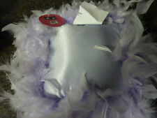 Pinkie's Palace Pillow - Purple with feathers