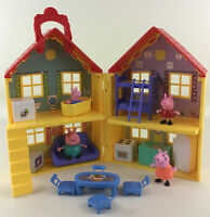 Peppa Pig Deluxe House Playset Pieces 19pc Lot Dollhouse Furniture Toy Jazwares