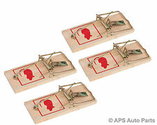 4x Classic Small Wooden Mini Mouse Rat Rodent Trap Traditional Humane Catch