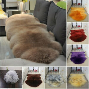100% Sheepskin Rug Genuine Wool Rugs Carpets Thick Double Pelt Real Fur Lambskin