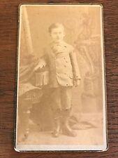 Post Civil War Era CDV Photo of Small Child Toddler in Fancy Attire Hoboken, NJ