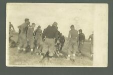 Aledo ILLINOIS RP c1910 FOOTBALL GAME in Progress RUNNING BALL Tackled 3 yd Line