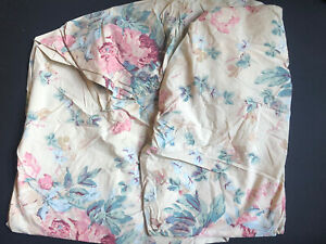 RARE *RALPH Lauren *ELSA GRASSLANDS QUEEN FITTED SHEET Floral Tan SHABBY Chic