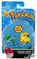 Pokemon 2 Pack Plastic Figures - Bulbasaur vs. Pikachu