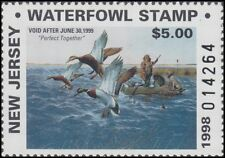 1998 New Jersey State Duck Stamp Mint Never Hinged Vf