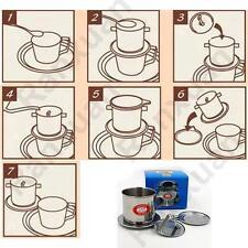 SliverStainless Steel Vietnamese Style Coffee Drip Pot Filter Maker Phin Infuser