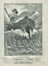 Antique Advertisement Print Lifebuoy Soap & Robertson Whisky & Mariani Wine 1901
