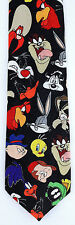 Looney Tunes Faces Mens Necktie Cartoon Character Bugs Black Neck Tie New