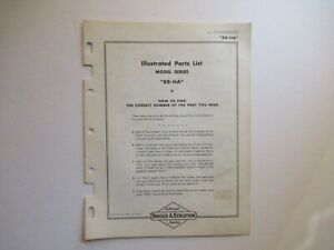 Briggs & Stratton 8B-HA engine parts list manual catalog