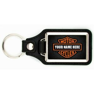 PERSONALIZED HARLEY DAVIDSON MOTORCYCLE KEYCHAIN YOUR NAME HERE KEY CHAIN RING