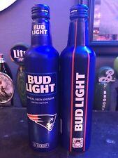 2018 Patriots NFL Kickoff Aluminum Bud Light Beer Bottles