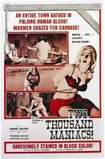 TWO THOUSAND MANIACS! Movie POSTER 27x40 Connie Mason William Kerwin Jeffrey