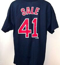 2d134b2ae51 Chris Sale Boston Red Sox Player Name and Number Navy Tee Adult XL