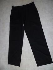 PETER WERTH BLACK WOOL PANTS TROUSER , USED W36LX32 EXCELLENT