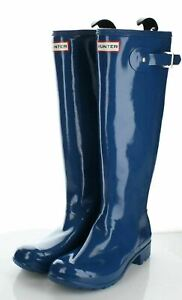 A46 NEW $105 Women's Sz 8 M Hunter Original Tour Gloss Packable Rain Boots