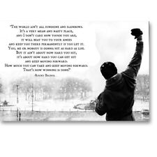 Rocky Balboa Motivational Quote Movie Canvas Poster Art Prints 8X12 24x36 inch