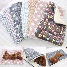 Pet Cat Dog Puppy Bed Blanket Winter Calming Kennel Fleece Sleeping Mat Washable