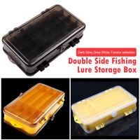 Double Side Fishing Lure Box Portable Bait Case Organizer Lure Fishing Tool #UK