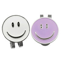 Set of 2 Funny Happy Face Golf Ball Markers with Magnetic Golf Hat Clip