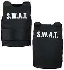 Swat Vest Police Fbi Military Fancy Dress Costume Accessory One Size Mens Adult