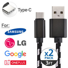 2x OEM Samsung Fast Charge USB-C Type C Cable for Galaxy S8 S9 Note 8 LG G6 V30