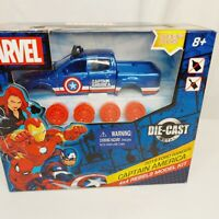Marvel captain america Die-Cast Metal Model Kit Truck  ford ranger easter gift