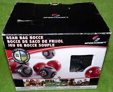 Sportcraft Bean Bag Bocce Ball Set Indoor/Outdoor 9 Balls With Instructions, Bag