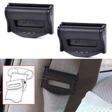 2X Car Seat Belt Safety Adjuster Clips Clamp Stopper Buckle Improves Comfort