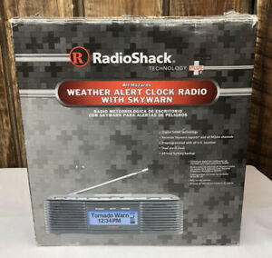 Radio Shack Weather Alert Clock Radio AM/FM WX Skywarn NOAA 12-519 Emergency