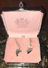 NIB RARE JUICY COUTURE SILVER DUAL HEART Locket BEST FRIEND BFF Necklace