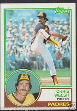 Tarjeta de béisbol Topps 1983-no 118-Chris Welsh-Padres