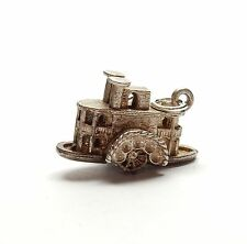 Vintage 925 Sterling Silver WATERMILL MOVES MOVING Bracelet Charm Pendant 4.2g
