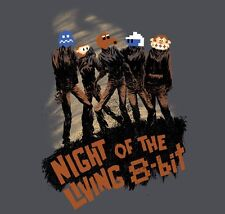 TEEFURY NIGHT OF THE LIVING 8-BIT T-SHIRT SIZE L LARGE SOLD OUT Q-BERT