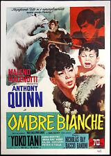 CINEMA-manifesto OMBRE BIANCHE a. quinn, yoko tani, RAY e BANDINI
