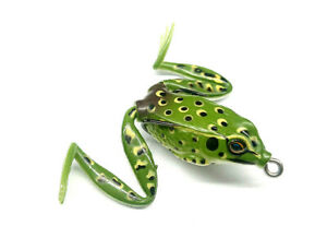 3D Concept Lure Surface Frog Realistic Soft Bait 50mm 12g Double Hook Weedless