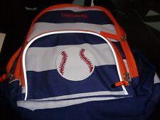 Pottery Barn Kids Fairfax navy white stripe Lunch Bag baseball mono bennett New