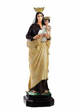 Our Lady of Mount Carmel resin statue cm. 83 with glass eyes