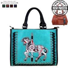 MONTANA WEST Trail of Painted Ponies Concealed Handgun Tote/Messenger Handbag