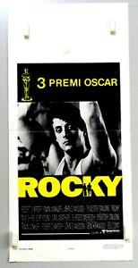 ROCKY - SIKLVESTER STALLONE - LOCANDINA ORIGINALE 1977 - CM. 33 X 70