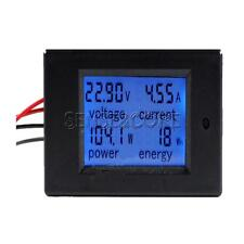 DC 20A LCD Meter Spannung Strom KWh Watt Car Battery Panel Power Monitor Shunt
