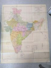Vintage Map: India 1962 Railway Map of India - DIS