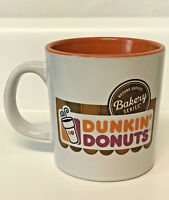 Dunkin Donuts Coffee Mug Orange White