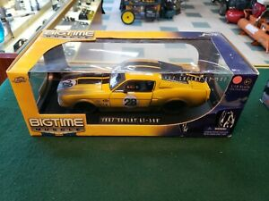Jada Bigtime Muscle Yellow 1967 Shelby GT 500 1:18