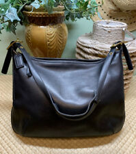 Vintage Coach  XLarge Soft Leather Black Slouch Shoulder Bag~Very Good Condition