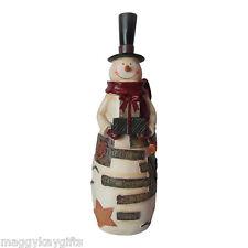 29cm Stile Vintage Resina Pupazzo di neve Inscritto Believe in the Magic