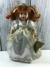 """Vintage The Broadway Collection Porcelain & Cloth Child Girl Doll - 13""""- Stunnin"""